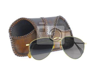Aviator okulary izolowane.