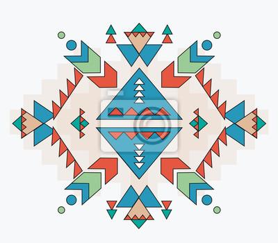 Aztec tło wektor wzór wydruku