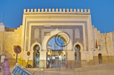 Obraz Bab Bou Jeloud gate w Fez, Maroko