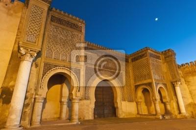 Bab Jama en drzwi Nouar w Meknes, Maroko