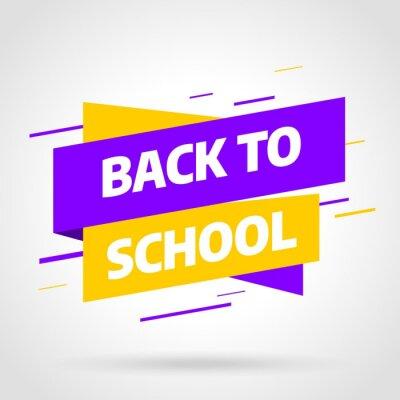 Back to school Wyprzedaż banner template design, oferta specjalna Big sale. Ilustracji wektorowych.