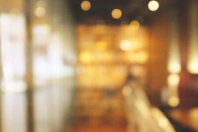 Obraz Background blurred Modern cafe, cafe blurred background with bokeh