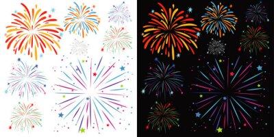 Obraz Background design with fireworks