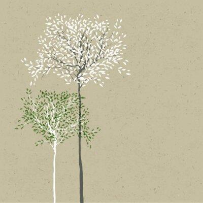 Obraz Background Trees. Pień i liście w osobnych warstwach. Vecto