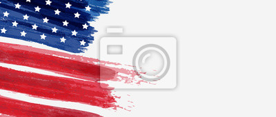 Obraz Background with USA painted flag