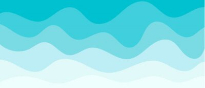 Obraz Background with waves of the sea, template for splash. Blue are trendy pastel shades for summer designs.