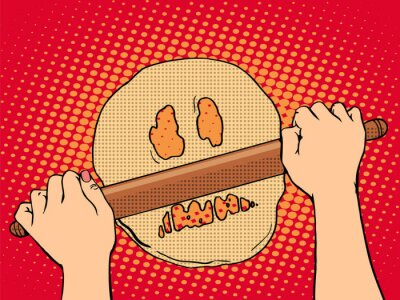 Obraz Bad ciasta gotowania piekarni