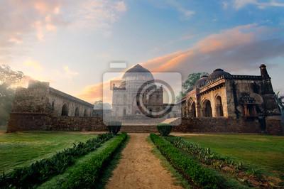 Obraz Bada Gumbad Complex na wczesnym rankiem w Lodi Garden Zabytków, Delhi, Indie