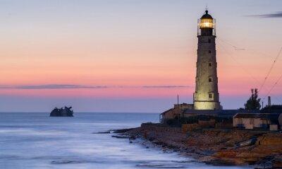 Obraz Bagażnik statku i latarnia morska