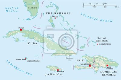 Obraz Bahamy Kuba Haiti Jamaika Dominikana Na Wymiar Wieza
