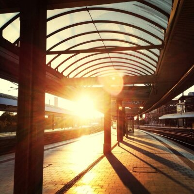 Obraz Bahnsteig