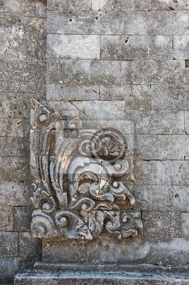 Bali tradycyjny wzór, rzeźby z piaskowca Bali świątyni.