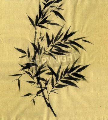 Obraz Bamboo Bambusa. Rysunek stylu Guohua