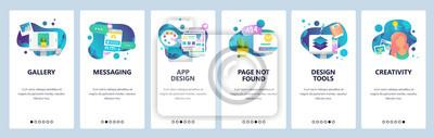 Banery menu do tworzenia stron internetowych i aplikacji mobilnych. Nowoczesny