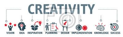 Obraz Banner kreatywności koncepcji ilustracji wektorowych