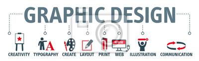 Obraz Banner Projekt graficzny concept english keywords