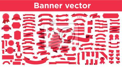Obraz Banner vector icon set