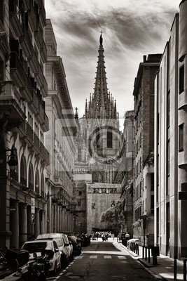 Barcelona Cathedral in Gothic Quarter