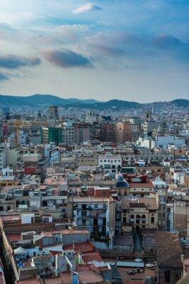 Obraz Barcelona from Santa Maria del Pi church, Spain