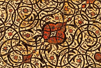 Bardzo szczegółowe tła z orientalne ozdoby