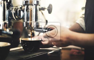 Obraz Barista Cafe kawowy Przygotowanie Service Concept