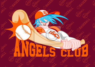 Obraz BASEBALL ANGELS CLUB