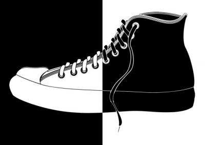 Obraz Basket en noir et blanc pl