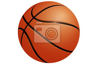 Obraz basketball isolated on white background