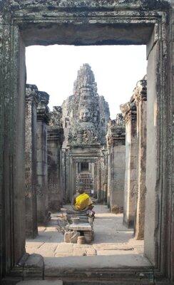 Obraz Bayon Temple w Angkor Thom, Angkor, Kambodża