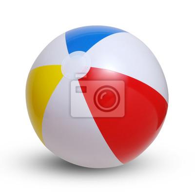 Obraz Beach ball na białym