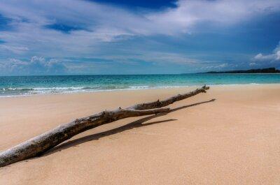 Beach sand and blue sea beautiful landscape nature
