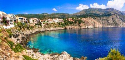 beautiful coastal village Assos in Kefalonia. Ionian islands of Greece