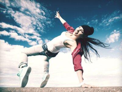 Obraz beautiful dancing girl in movement