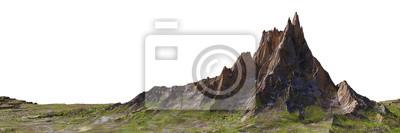 Obraz beautiful mountain isolated on white background