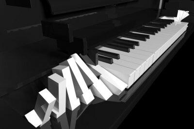Obraz Beautiful piano keys
