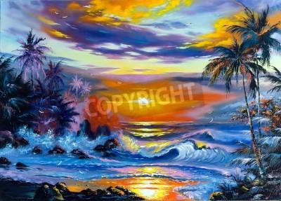 Obraz Beautiful sea evening landscape