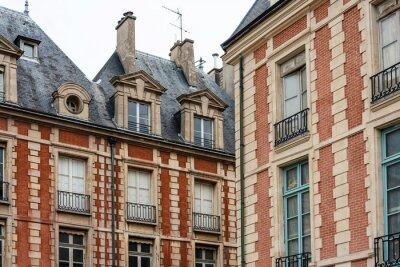 beautiful Street view of Buildings, Paris city, France