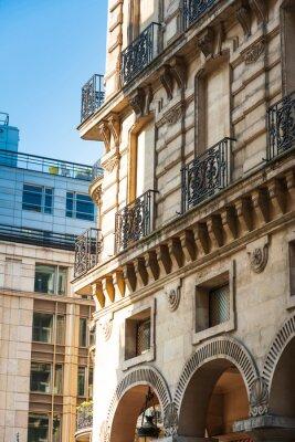 beautiful Street view of Buildings, Paris city, France.