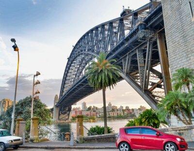 Beautiful view of Sydney Harbour Bridge from Kirribilli, Australia