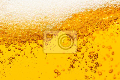 Obraz Beer background with bubble froth texture foam pouring alcohol soda in glass happy celebration party holiday new year concept object design