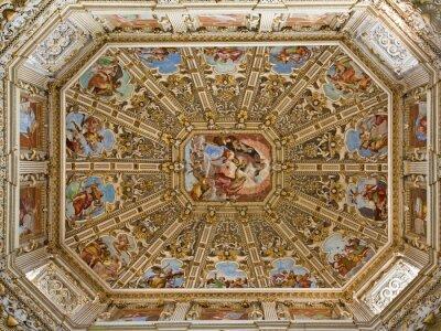 Obraz Bergamo - kopuła katedry Santa Maria Maggiore