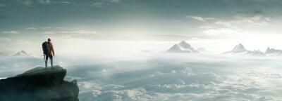 Obraz Bergsteiger - Gipfel - Freiheit