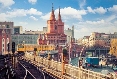 Obraz Berlin Friedrichshain-Kreuzberg Oberbaumbrücke