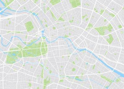 Obraz Berlin kolorowych map wektorowych