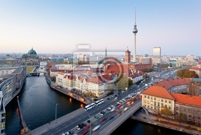 Berlin Widok z Fischerinsel