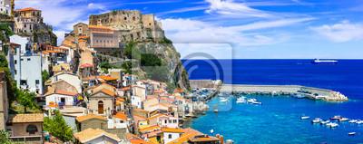 best of Calabria , scenic Scilla coastal town . Italy