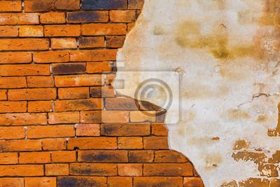 betonie rocznika tle ceglanego muru