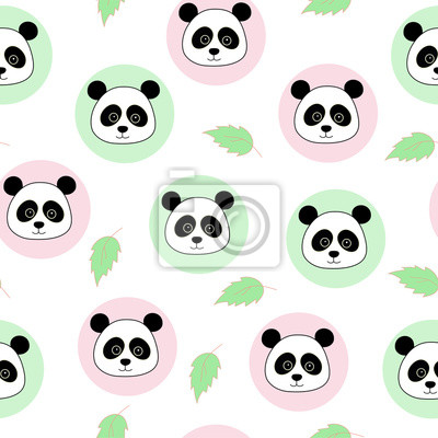 Bez szwu deseń, pandy w okręgu