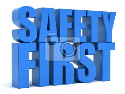 Obraz Bezpieczeństwo przede wszystkim