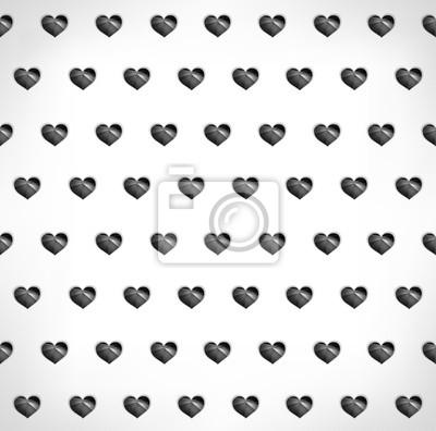 Bezproblemowa geometryczny wielokątne czarnym tle serca